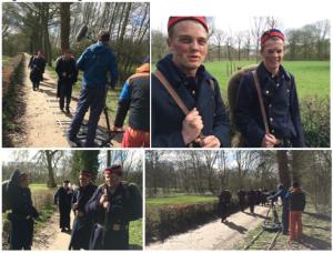 Opnames voor filmpje over Belgische vluchtelingen in WOI