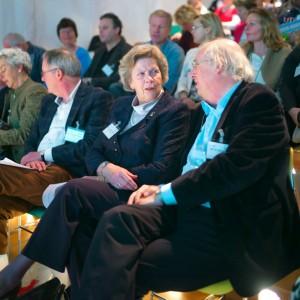 Voorzitter NC Joann Leemhuis-Stout in gesprek met curator Ad van Liempt.